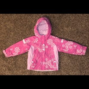 Toddler Youth Girls Pink Columbia Winter Coat 4/5